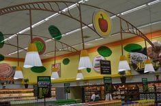 Projeto de loja - design - comunicação visual Supermercados Savegnago - Loja de Franca-SP