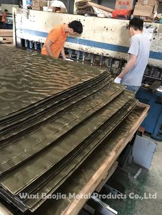 Provide stainless steel decoration solutions for customers  Email:chinasteel@yikaisteel.com  Web:www.ggzxw.com  Whatsapp&Skype:+86-18706195608  Wechat:18706195608 Cladding Design, Facade Design, Stainless Steel Panels, Tin Walls, Water Ripples, Clinic Design, Spa Design, Metal Panels, Facade Architecture