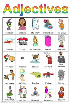adjectives worksheets first grade