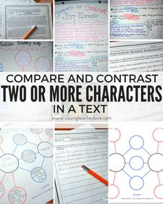 Compare and Contrast Two or More Characters in a Story {Freebies Included} - Young Teacher Love by Kristine Nannini Character Activities, Teaching Character, Teaching Reading, Teaching Ideas, Teaching Resources, Teaching Plot, Student Teaching, Reading Activities, Teaching English