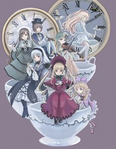 Rozen Maiden - I should watch this again. A beautiful anime about living dolls
