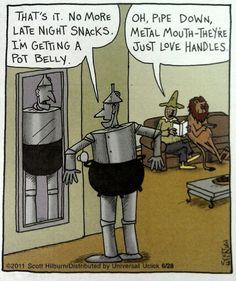 Wizard of Oz, funny cartoon