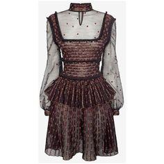 Patchwork Sheer Lace Mini Dress (€3.620) ❤ liked on Polyvore featuring dresses, sheer lace dress, patchwork dress, mini dress and short dresses