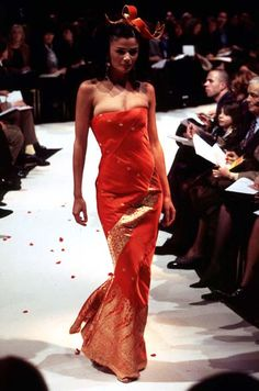 1996 - John Galliano for Givenchy couture - Helena Christensen
