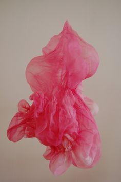 Lisa Kellner: Love this one; is it a flower, floating fabric or just magic. Textiles, Instalation Art, Soft Sculpture, Color Rosa, Art Plastique, Lisa, Mosaic Art, Fiber Art, Pretty In Pink