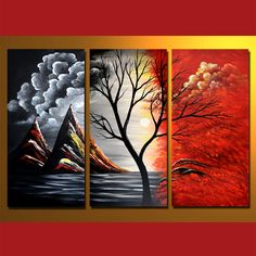 GMD3001 3-PCS Group Oil Painting-Acme Arts