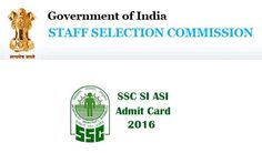 SSC-Sub Inspector in Delhi Police-CAPFs & ASI in CIFS Exam 2016-Call Letter Issued   Staff Selection Commission Western Region (SSC) has released call letter for attending paper II examination for the posts of Sub Inspector in Delhi Police, CAPFs & ASI in CIFS, 2016. Paper II Examination will be held on 18-12-2016. Candidates who have applied for this posts can download their call letter at below link…
