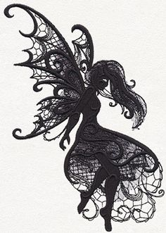 Dark Creatures - Fairy - Thread List | Urban Threads: Unique and Awesome Embroidery Designs