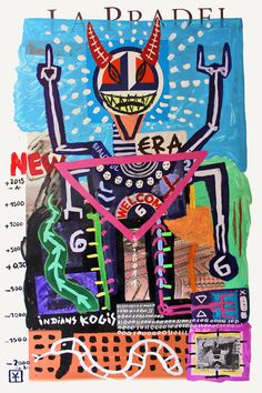 Victor Tricar - NEW BEAUTIFUL ERA / Acrylic and collages on board /// 2015 ///