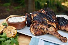 Chermoula Chicken with Coriander Yoghurt - Weber - New Zealand Weber Q Recipes, Cooking Recipes, Healthy Recipes, Healthy Food, Weber Bbq, Cooking On The Grill, Coriander, Main Meals, Tandoori Chicken