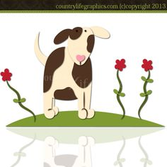 Puppy Love 1 - Cutting File / Paper Piecing Pattern : Digi Web Studio, Clip Art, Printable Crafts & Digital Scrapbooking!