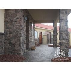 Flooring, Decking, Siding, Roofing, and Manufactured Stone Veneer, Stone Gallery, Exterior Design, Stone Exterior, Stone Work, Building Materials, Custom Homes, Natural Stones, Luxury Homes