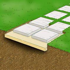 Comment installer une allée de dalles