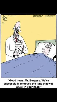 Humor from the medical field. We've removed it. - 'Rubes' by Leigh Rubin Music Jokes, Music Humor, Funny Music, Orchestra Humor, Radio Humor, Piano Funny, Band Jokes, Band Nerd, Fun Songs