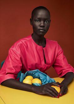 Sunrise Market Publication: Luncheon Magazine #3 Spring 2017 Model: Grace Bol Photographer: Solve Sundsbo Fashion Editor: Mattias Karlsson Hair: Chisato Yamamoto Make Up: Polly Osmond