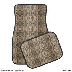 Mosaic Wood Car Floor Mat