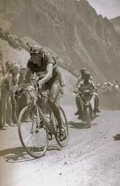 Fausto Coppi at the 1949 Tour de France - Looks like most of the posters in our shop!