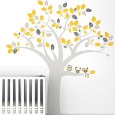 LittleLion Studio Trees Owl Extra Large Wall Decal