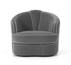 HollLuxury Designer Grey Leather Club Chair,