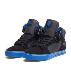 SUPRA VAIDER Shoe | BLACK / ROYAL - ROYAL | Official SUPRA Footwear Site Ugh I want so bad