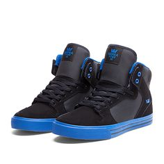 SUPRA VAIDER Shoe | BLACK / ROYAL - ROYAL | Official SUPRA Footwear Site