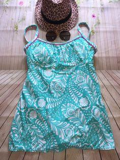 614a7e94f6 Kim Rogers Swim Aqua Blue Seashells SwimDress Size Small Swimsuit  #KimRogersSwim #Swimdress Swim Dress
