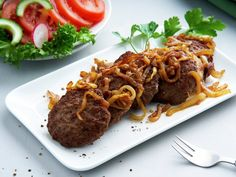 Karbonade med Løk (with Onion) Mince Recipes, Spicy Recipes, Healthy Recipes, Low Fat Diets, No Carb Diets, Processed Sugar, Fiber Foods, Calorie Intake