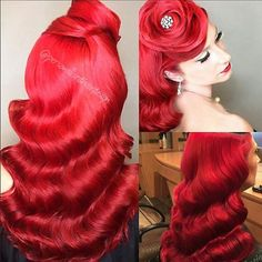 Can you believe this insanely gorgeous retro rose updo created by Nadine Donovan-Agiesta of @personalisedhairdesign !!! @Regrann from @niktrowbridge -  Can you believe this insanely gorgeous #retro #rose #updo created by Nadine Donovan-Agiesta of @personalisedhairdesign !!! I'm thrilled to be educating with her and the incredible line up of #educators on the @hairstylistcruise 2016   #TheStatementsProject  #TheStatementsSuccessSeries  #StatementsTheSalon  #StatementsTheAcademy…