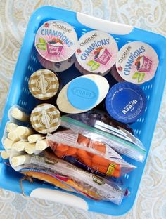 Lunch/snack fridge organization