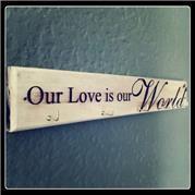 Love is our World Key Holder Key Holders, Key Rings, Key Fobs
