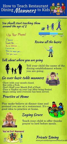 How to teach #kids manners when dining out at #restaurants