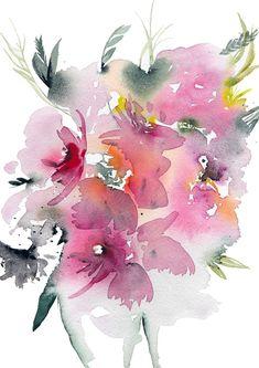 Watercolor Walls, Watercolor Design, Abstract Watercolor, Watercolor Flowers, Watercolor Paintings, Watercolor Tattoos, Watercolors, Plant Illustration, Watercolor Illustration