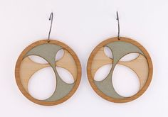 """Molly M Designs create beautiful lasercut jewelry and drafted in AutoCAD. These lovely earrings come from the 'Layers"""" range."""