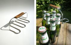 The Sixpack is a bottle carrier that can hold up to 6 beer, soft drink, or water bottles. It's perfect for those BYO dinner outings where a normal 6 pack gets destroyed after you rip out one beer.
