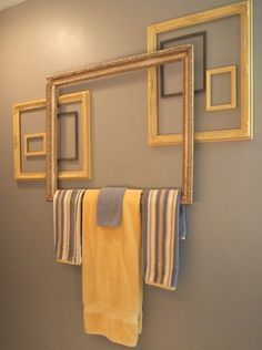 If you have a ton of old picture frames you're looking to repurpose, this is just the article for you! Repurpose your picture frames and decorate your home with tons of DIY home projects! Diy Bathroom, Decor, Frame Decor, Diy Home Decor, Bathroom Decor, Cheap Home Decor, Interior, Home Diy, Home Decor