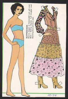 Bianca Jagger Rolling Stones Scarce 1974 Vintage Paper Doll issued in Sweden Paper Doll Craft, Doll Crafts, Paper Toys, Paper Crafts, Bianca Jagger, Music Crafts, Seventies Fashion, Paper People, Paper Dolls Printable