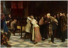 """""""¡Absuelto!"""", 1897, Vicente Borrás Abellá (depósito en el Museo de Bellas Artes de Valencia San Pío V)."""