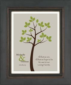 To My Parents Personalized Wedding Frame | Pinterest | Parents ...