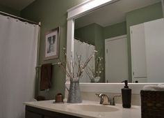 Bathroom Mirror Ideas Diy bathroom mirror and lighting ideas | bathroom - lighting over