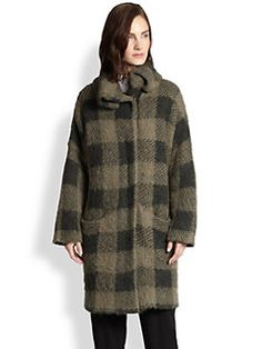Rag & Bone - Cammie Checked Mohair & Viscose-Blend Sweater Coat