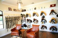 In-Site Design Group designed this beautiful equestrian estate. Tack Room. Palm Beach Point, Florida.