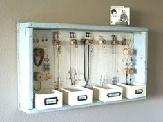 This is such a darling DIY for your jewelry storage needs!