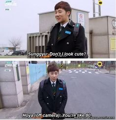 He isn't even that old! Love ya, Sunggyu! Be young while you can