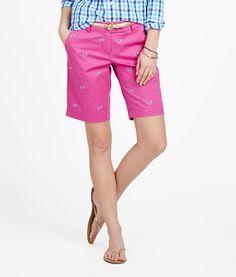 Womens Shorts: Embroidered Dayboat Bermuda Shorts for Women– Vineyard Vines