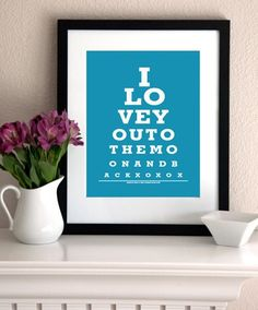 So Cute! And there is an Eye Chart Maker online that you can add your own personalization to.