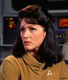 "Majel Barrett as ""Number One"", Captain Christopher Pike's nameless first officer in the pilot episode of Star Trek: The Original Series (1966 - 1969)"