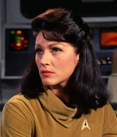 "Majel Barrett as ""Number One"", Captain Christopher Pike's nameless first officer in the pilot episode of Star Trek: The Original Series (1966 - 1969)"