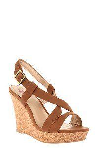 Lena Camel Cork Wedge Heels (Wide Width)   Wedges