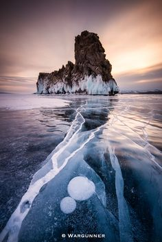 Frozen Baikal - Taken on the frozen lake Baikal in Russia