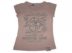 Maat 92 T-shirt Roze met tekst  Merk Vingino